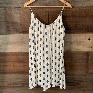ZARA WOMAN Cream Printed Sheer Layered Mini Dress